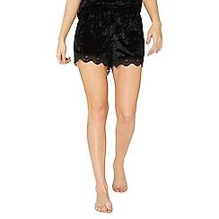 Dorothy Perkins - Black velvet shorts