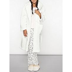 Dorothy Perkins - Cream bear hooded dressing gown
