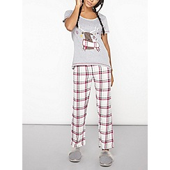Dorothy Perkins - Wine checked pyjama bottoms