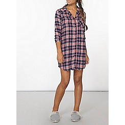 Dorothy Perkins - Navy check nightshirt