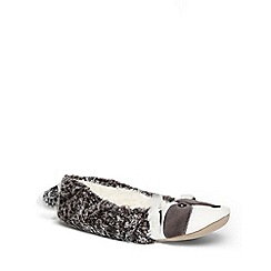 Dorothy Perkins - Grey racoon ballerina slippers