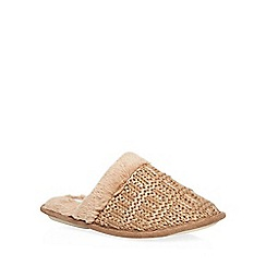 Dorothy Perkins - Natural knitted mule slippers
