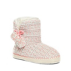 Dorothy Perkins - Pink neon knitted booties
