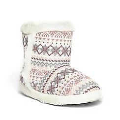Dorothy Perkins - Multi fairisle bootie slippers