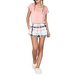 Dorothy Perkins - Bunny check pj shorts