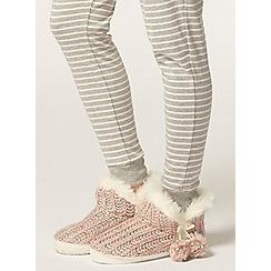 Dorothy Perkins - Multi knit neon slippers