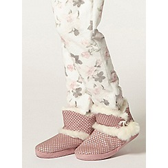 Dorothy Perkins - Pink glitter bootie slippers