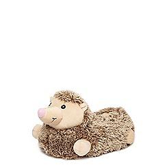 Dorothy Perkins - Brown 3d hedgehog slippers