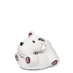 Dorothy Perkins - White 3d scotty dog slippers