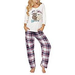 Dorothy Perkins - Purple cuddling koalas pyjama set