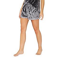 Dorothy Perkins - Charcoal velvet shorts