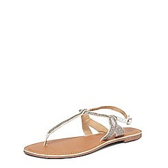 Dorothy Perkins - Wide fit white 'fee' sandals