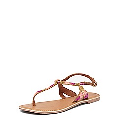 Dorothy Perkins - Wide fit pink 'fee' sandals