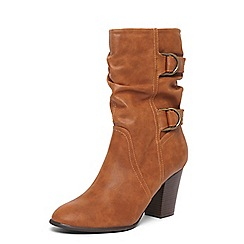 Dorothy Perkins - Tan wide fit 'katherine' calf boots