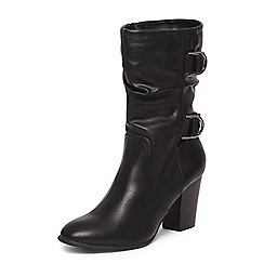 Dorothy Perkins - Black wide fit 'katherine' calf boots