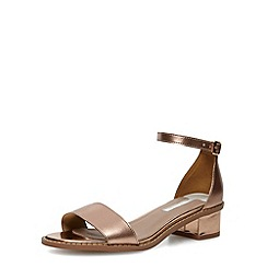 Dorothy Perkins - Rose gold wide fit block heels