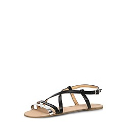Dorothy Perkins - Black wide fit flat sandals
