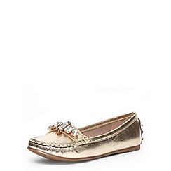 Dorothy Perkins - Wide fit gold driving shoes