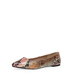 Dorothy Perkins - Wide fit snake pointed pumps