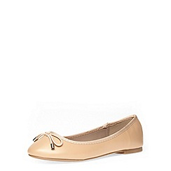 Dorothy Perkins - Wide fit nude ballerina pumps