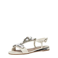Dorothy Perkins - White mule gem wedge sandals