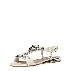 Dorothy Perkins - White mule gem wedge sandals