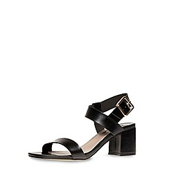 Dorothy Perkins - Black wide fit block sandals