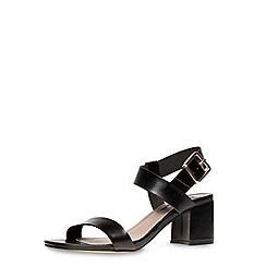 Dorothy Perkins - Black wide fit block sandals