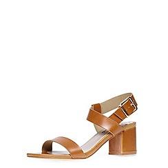 Dorothy Perkins - Tan wide fit block sandals