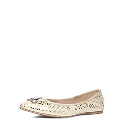 Dorothy Perkins - Wide fit gold embellished pump