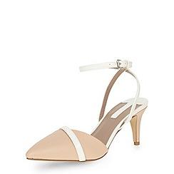 Dorothy Perkins - Wide nude asymmetric heels