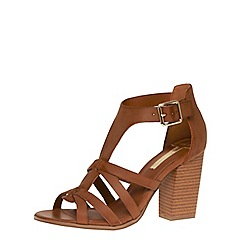 Dorothy Perkins - Tan gladiator block sandals