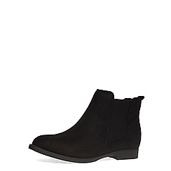 Dorothy Perkins - Wide fit black leather look chelsea boot