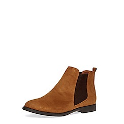 Dorothy Perkins - Wide fit tan 'wham' boots