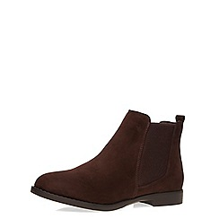 Dorothy Perkins - Chocolate wide fit 'wham' boots