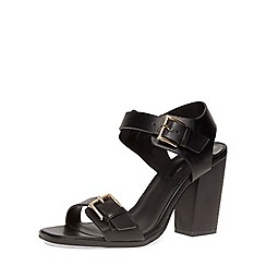 Dorothy Perkins - Black buckle block sandals