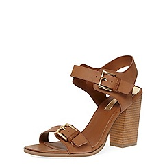 Dorothy Perkins - Tan buckle block sandals