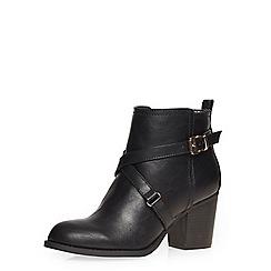Dorothy Perkins - Wide fit black 'wava' boots