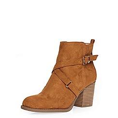 Dorothy Perkins - Wide fit tan 'wava' boots