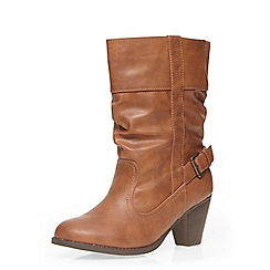Dorothy Perkins - Wide fit tan 'wex' boots