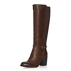 Dorothy Perkins - Wide fit choc 'whisper' boots