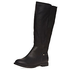 Dorothy Perkins - Wide fit black 'wood' boots