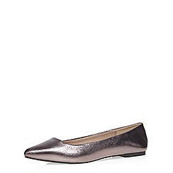Dorothy Perkins - Wide fit silver 'waspy' pumps