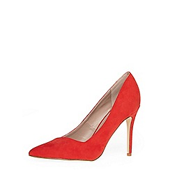 Dorothy Perkins - Red 'wink' wide fit court shoes