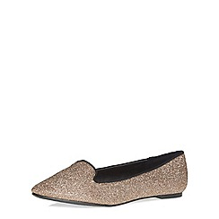 Dorothy Perkins - Wide fit gold 'wonder' pumps