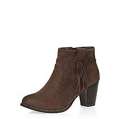 Dorothy Perkins - Taupe western tassel boot