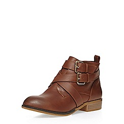 Dorothy Perkins - Wide fit tan 'wasabi' boots