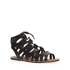 Dorothy Perkins - Wide fit black 'wye' sandals