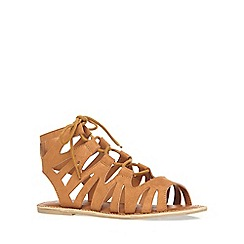 Dorothy Perkins - Wide fit tan 'wye' sandals