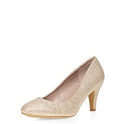 Dorothy Perkins - Gold 'wilma' wide fit courts